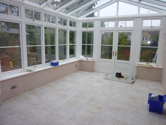 floor tiling complete
