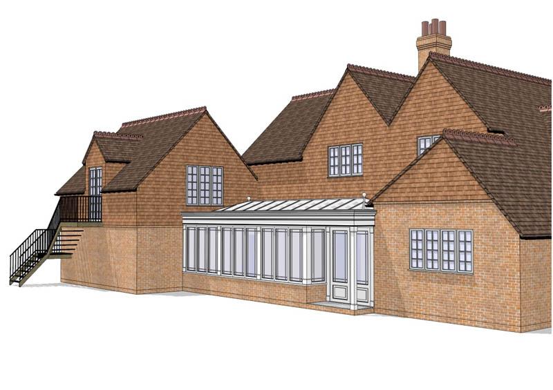 radlett orangery CAD
